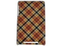спинка E-cell BEIGE PINK PLAID PATTERN HARD BACK CASE COVER