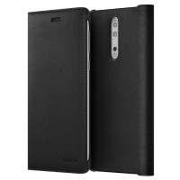 Nokia 8 Leather Flip Cover Black (СP-801)