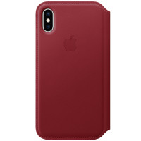 Apple iPhone XS Max Leather Folio (PRODUCT)RED