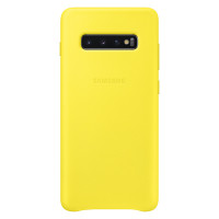 Samsung Leather Cover для Galaxy S10+, Yellow