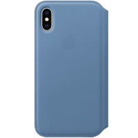Apple iPhone XS Leather Folio Cornflower