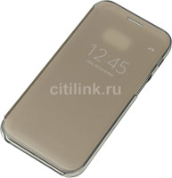 SAMSUNG Чехол (флип-кейс) SAMSUNG Clear View Cover, для Samsung Galaxy A5 (2017), золотистый [ef-za520cfegru]