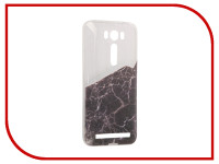 Аксессуар Чехол Asus ZenFone 2 ZE500KL Laser 5.0 With Love. Moscow Silicone Black Marble 2 5838