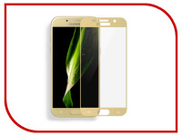 Аксессуар Защитное стекло для Samsung Galaxy A7 2017 Media Gadget 2.5D Full Cover Glass Gold Frame MGFCSGA717FGGD