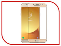 Аксессуар Защитное стекло для Samsung Galaxy J7 2017 Media Gadget 2.5D Full Cover Glass Gold Frame MGFCSGJ717FGGD