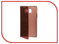 Аксессуар Чехол для Samsung Galaxy Note 5 Zibelino Clear View Gold Pink ZCV-SAM-NOT-5-GPNK