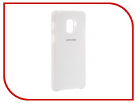 Аксессуар Чехол для Samsung Galaxy A8 Plus 2018 Innovation Silicone White 11923