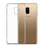 Накладка для Galaxy A8 Plus (2018) skinBOX Slim Silicone прозрачный