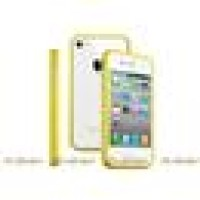 Бампер для телефона Apple iPhone 4S/4 Yellow (001467)